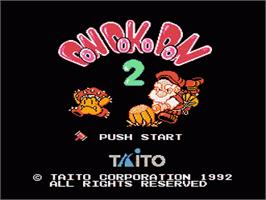 Title screen of Don Doko Don 2 on the Nintendo NES.