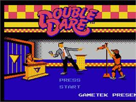Title screen of Double Dare on the Nintendo NES.