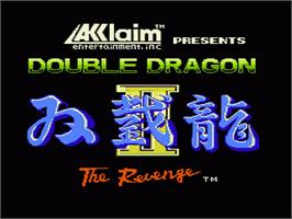 Title screen of Double Dragon II - The Revenge on the Nintendo NES.