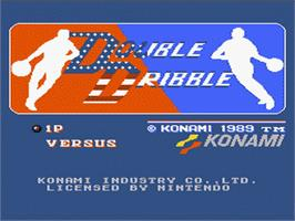 Title screen of Double Dribble on the Nintendo NES.