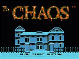 Title screen of Dr. Chaos on the Nintendo NES.