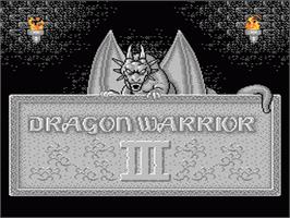 Title screen of Dragon Warrior 3 on the Nintendo NES.
