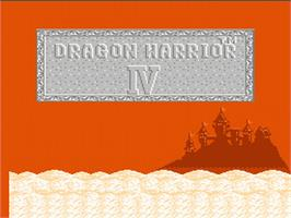 Title screen of Dragon Warrior 4 on the Nintendo NES.