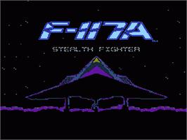 Title screen of F-117A Stealth Fighter on the Nintendo NES.