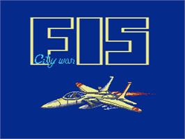Title screen of F-15 City War on the Nintendo NES.