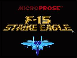 Title screen of F-15 Strike Eagle on the Nintendo NES.