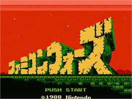 Title screen of Famicom Wars on the Nintendo NES.