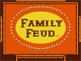 Title screen of Family Feud on the Nintendo NES.