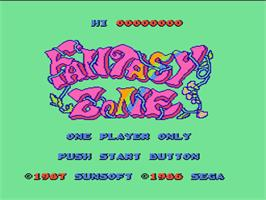 Title screen of Fantasy Zone on the Nintendo NES.