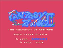 Title screen of Fantasy Zone 2 on the Nintendo NES.