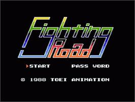 Title screen of Fighting Road on the Nintendo NES.
