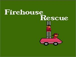 Title screen of Fisher-Price: Firehouse Rescue on the Nintendo NES.