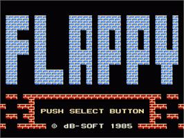 Title screen of Flappy on the Nintendo NES.