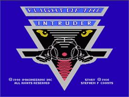 Title screen of Flight of the Intruder on the Nintendo NES.
