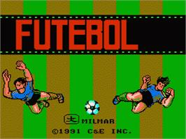 Title screen of Futebol on the Nintendo NES.