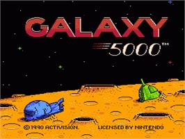 Title screen of Galaxy 5000: Racing in the 51st Century on the Nintendo NES.