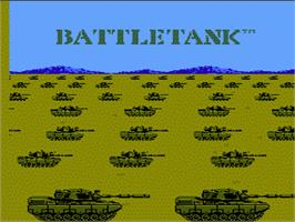Title screen of Garry Kitchen's Battletank on the Nintendo NES.