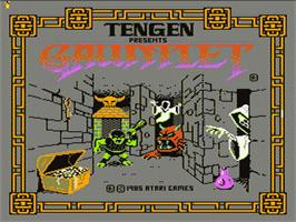 Title screen of Gauntlet on the Nintendo NES.