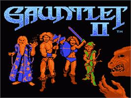 Title screen of Gauntlet II on the Nintendo NES.