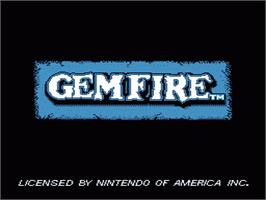 Title screen of Gemfire on the Nintendo NES.