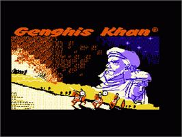 Title screen of Genghis Khan on the Nintendo NES.