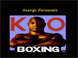 Title screen of George Foreman's KO Boxing on the Nintendo NES.