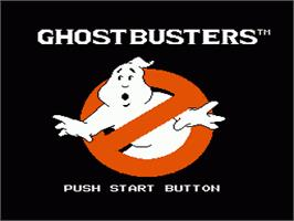 Title screen of Ghostbusters on the Nintendo NES.