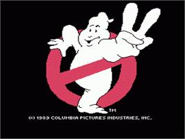 Title screen of Ghostbusters 2 on the Nintendo NES.