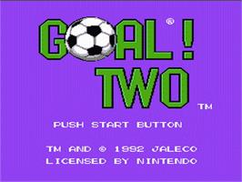 Title screen of Goal! Two on the Nintendo NES.