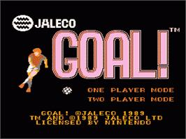 Title screen of Goal on the Nintendo NES.
