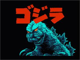 Title screen of Godzilla: Monster of Monsters on the Nintendo NES.