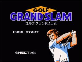 Title screen of Golf Grand Slam on the Nintendo NES.
