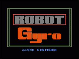 Title screen of Gyromite on the Nintendo NES.