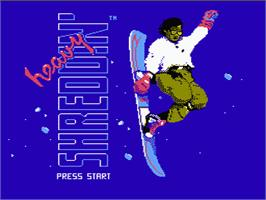 Title screen of Heavy Shreddin' on the Nintendo NES.