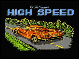 Title screen of High Speed on the Nintendo NES.