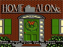 Title screen of Home Alone on the Nintendo NES.