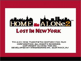 Title screen of Home Alone 2: Lost in New York on the Nintendo NES.