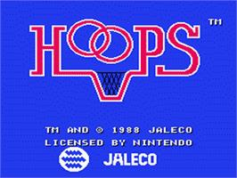 Title screen of Hoops on the Nintendo NES.