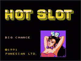 Title screen of Hot Slot on the Nintendo NES.
