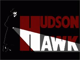 Title screen of Hudson Hawk on the Nintendo NES.