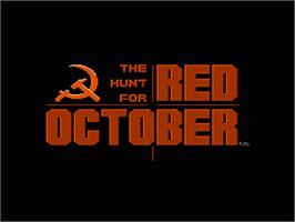 Title screen of Hunt for Red October on the Nintendo NES.