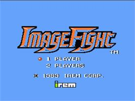 Title screen of Image Fight on the Nintendo NES.