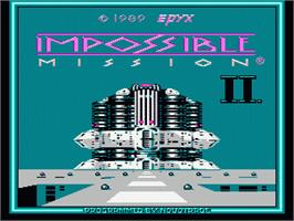 Title screen of Impossible Mission 2 on the Nintendo NES.