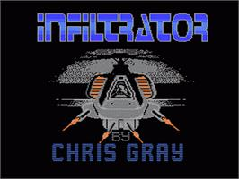 Title screen of Infiltrator 2 on the Nintendo NES.