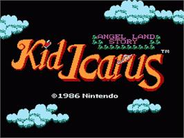 Title screen of Kid Icarus on the Nintendo NES.