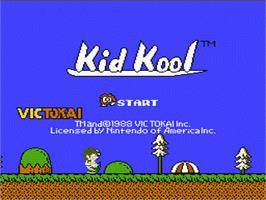Title screen of Kid Kool and the Quest for the Seven Wonder Herbs on the Nintendo NES.