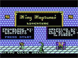 Title screen of King Neptune's Adventure on the Nintendo NES.