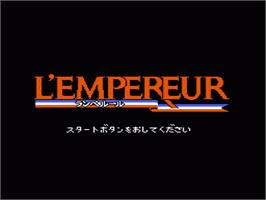 Title screen of L'Empereur on the Nintendo NES.