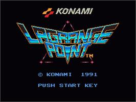 Title screen of LaGrange Point on the Nintendo NES.