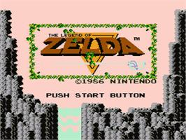 Title screen of Legend of Zelda on the Nintendo NES.